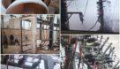 نمونه ای از مقره های برق انباشته از گرد و خاک خوزستان
