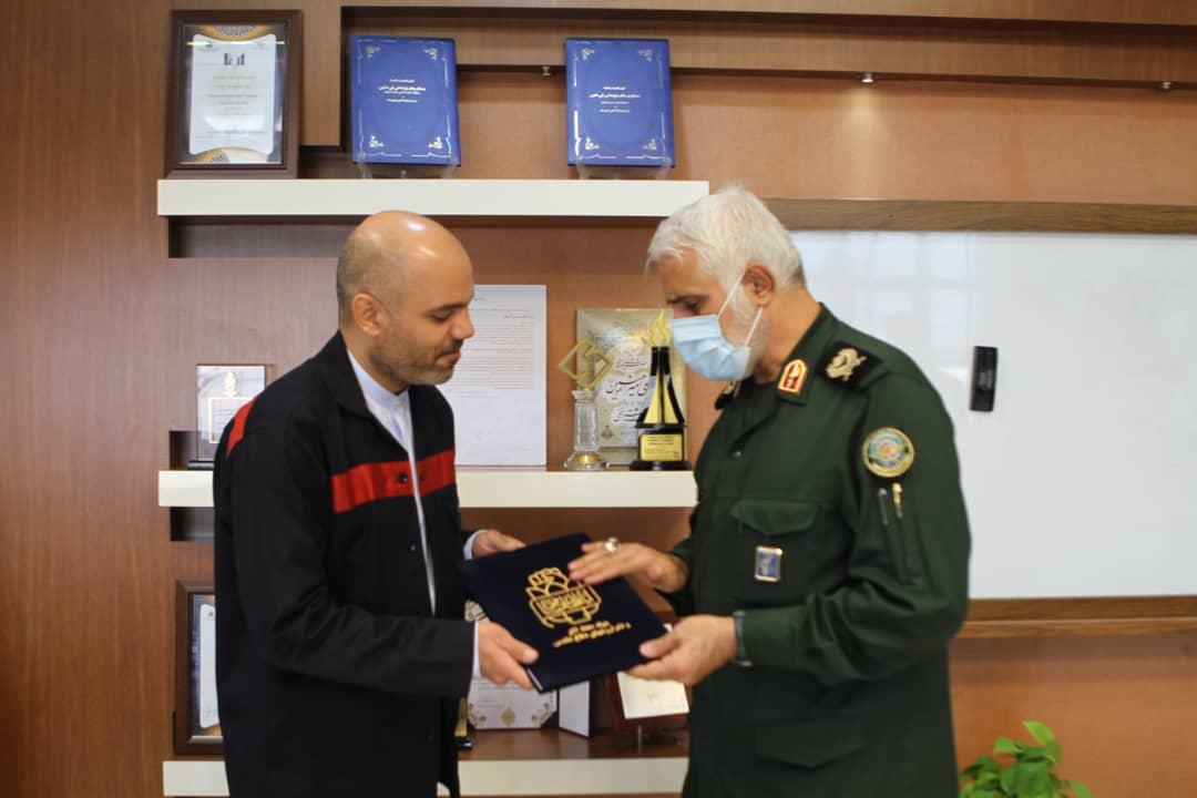 تأکید آسیابان مدیر عامل فولاد اکسین خوزستان برای همکاری جهت راه اندازی باغ موزه دفاع مقدس